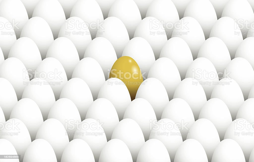 Golden Egg stock photo