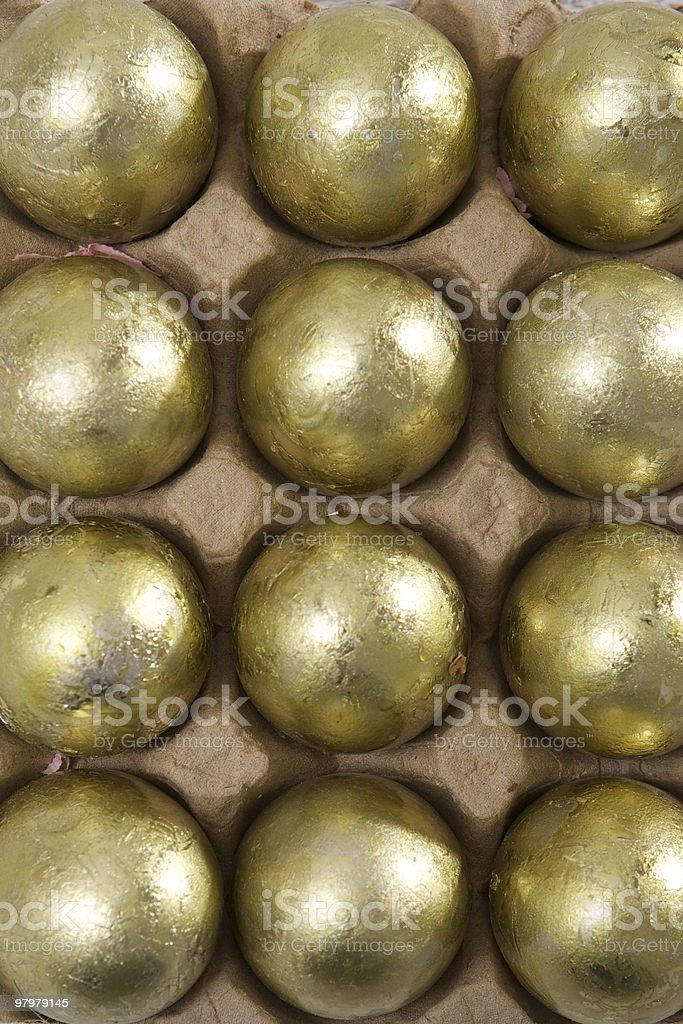 Golden Eggs royalty-free stock photo