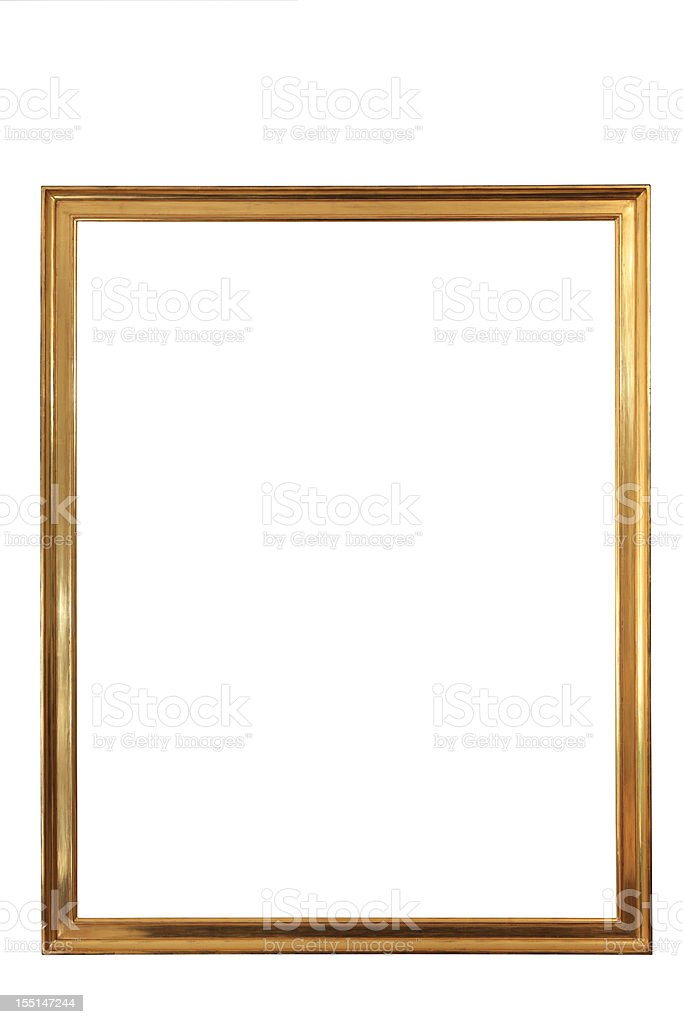 golden emty frame CLIPPING PATH stock photo