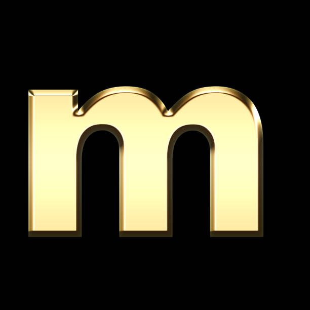 73ec7a3b7d0181 Top 60 3d Letter M Gold Stock Photos, Pictures, and Images - iStock