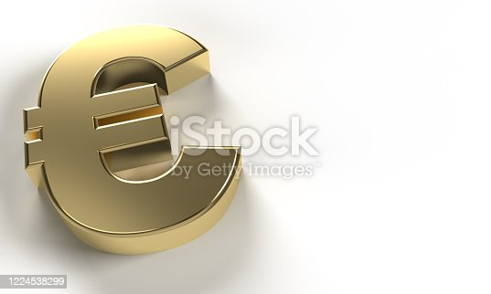 621262396 istock photo golden Euro sign (clipping path) 1224538299