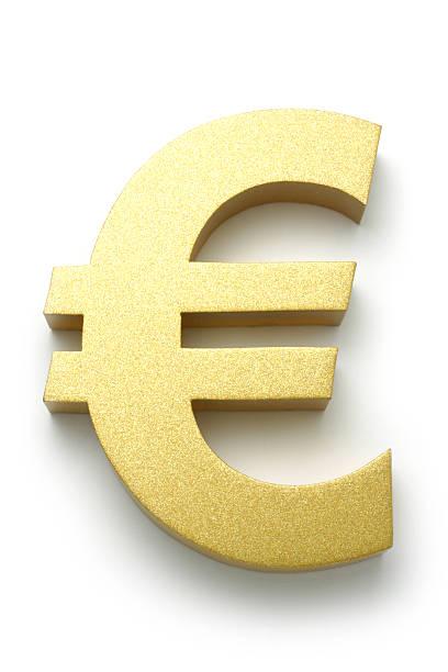 golden euro-symbol - euro symbol stock-fotos und bilder