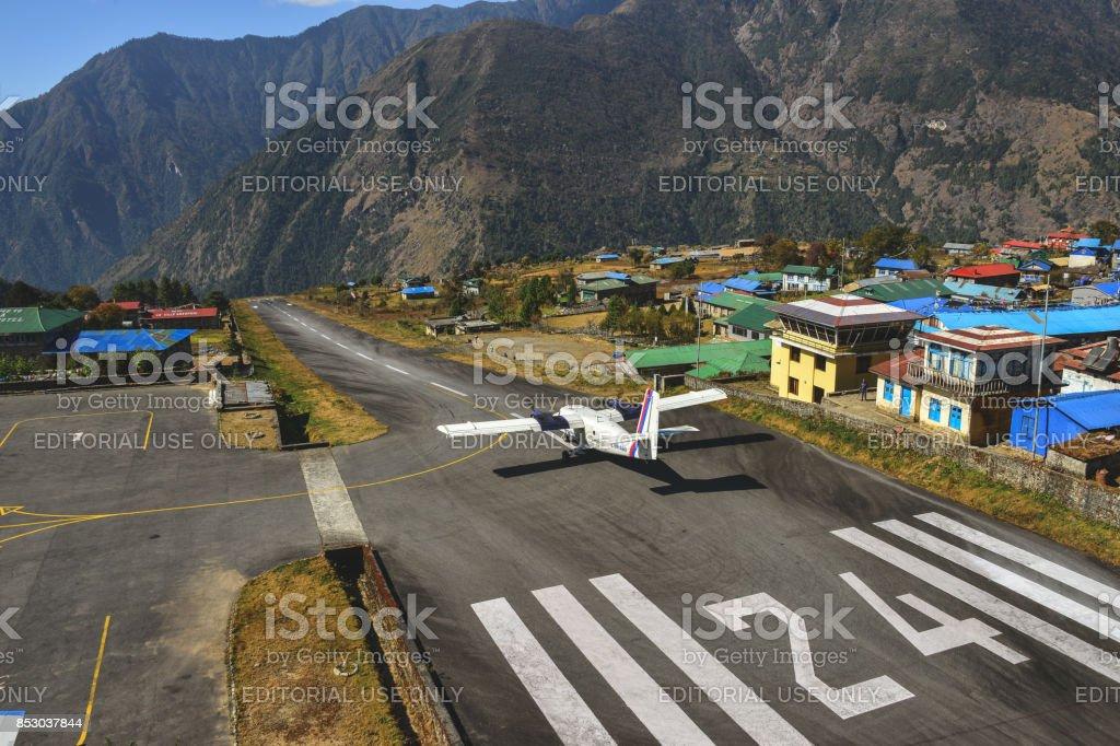 Golden eye runway stock photo