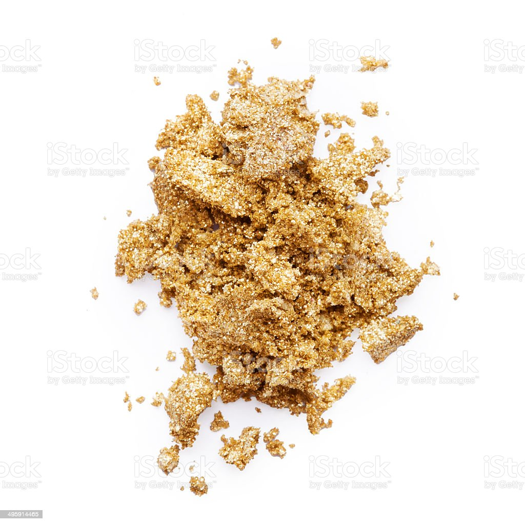 Golden eye shadow stock photo