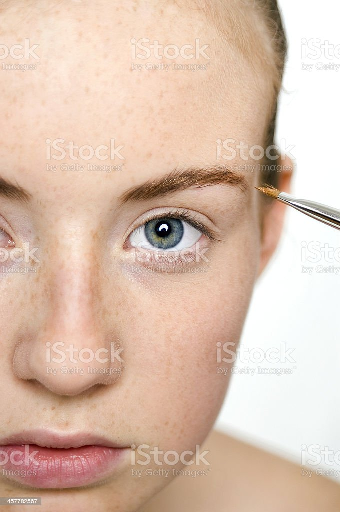Golden Eyebrows stock photo