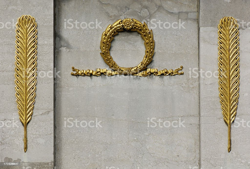 Golden feathers royalty-free stock photo