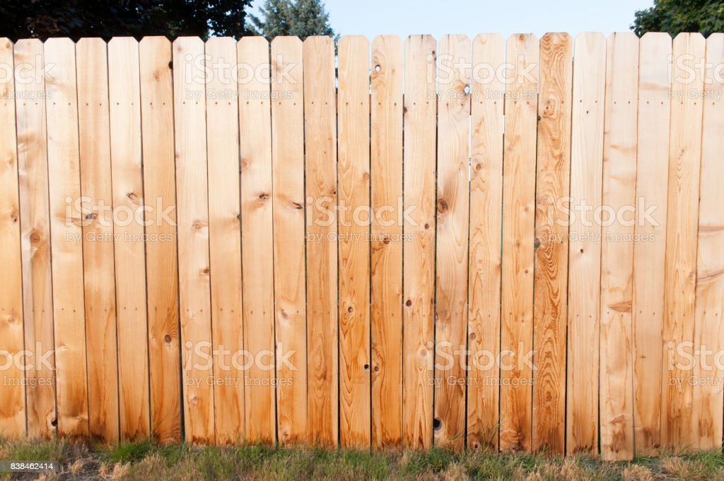 Golden Fence stock photo
