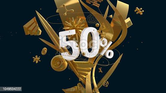 istock golden fifty percents 1049534222
