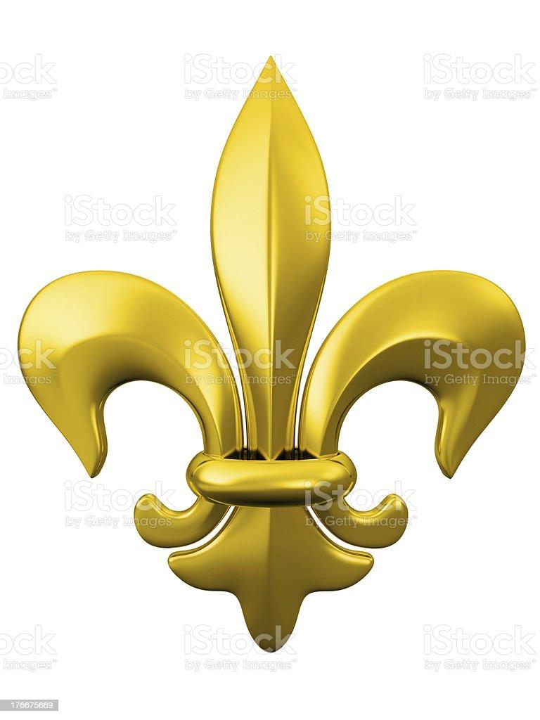 golden Fleur De Lys royalty-free stock photo