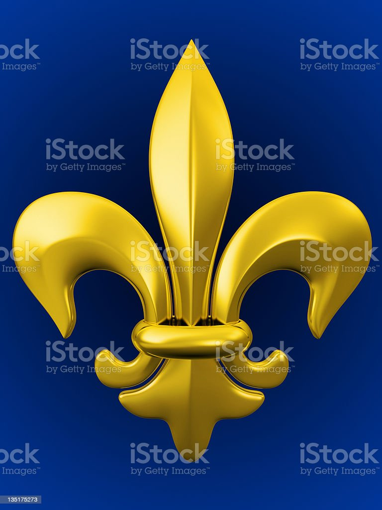 golden fleure de lis stock photo