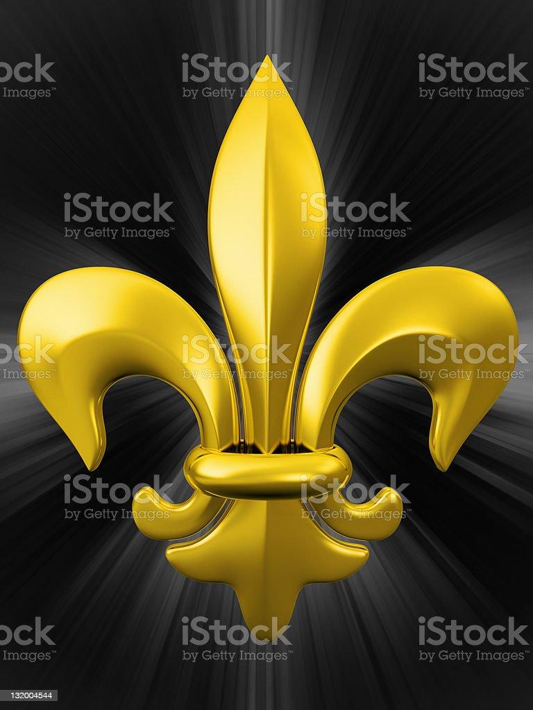 golden fleure de lis symbol stock photo