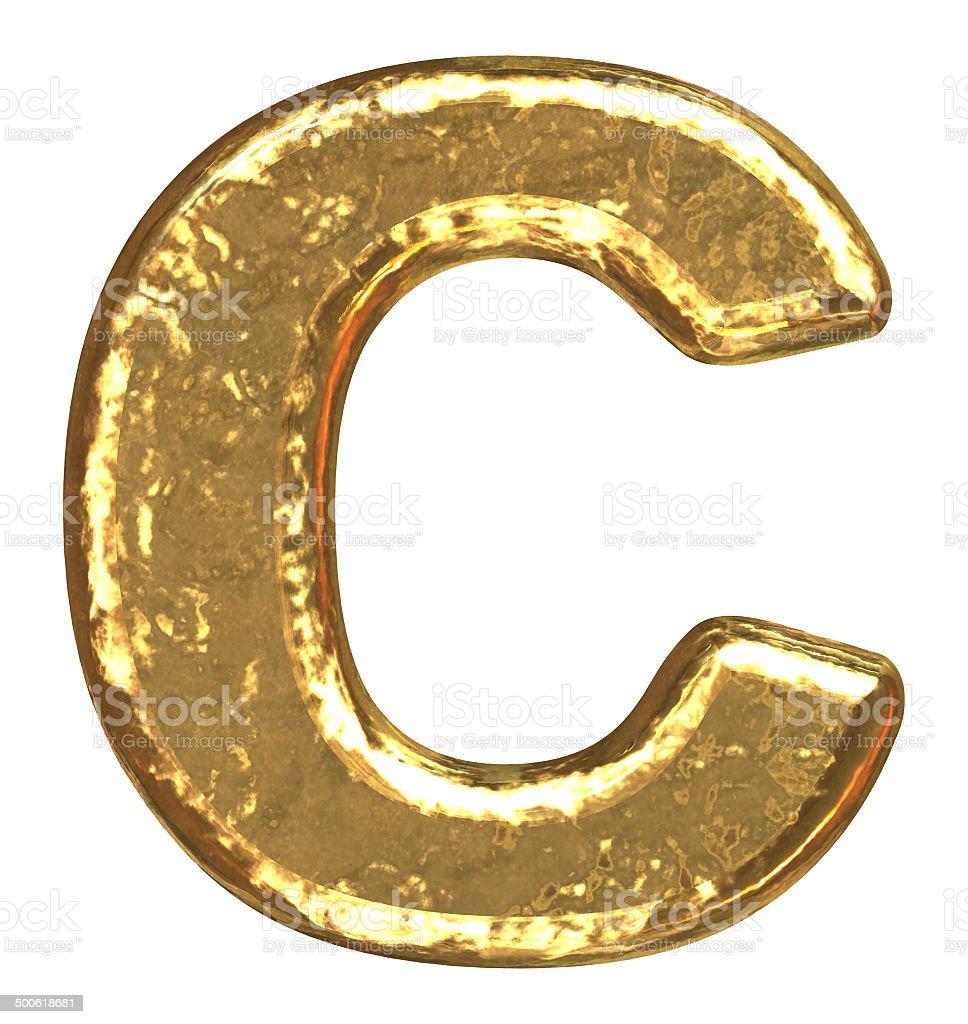 Golden Schriftart Capital Letter C Stockfoto Und Mehr Bilder Von