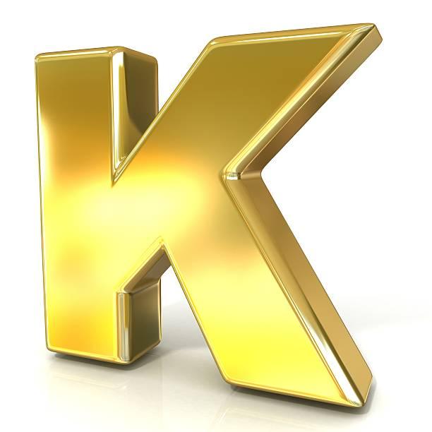 golden font collection letter - k - k logo stok fotoğraflar ve resimler