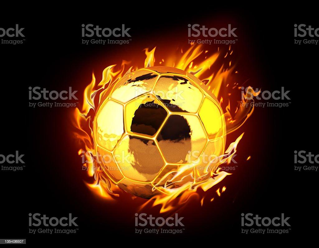 Golden Football stock photo