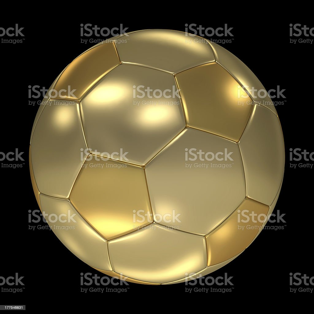 Golden FootBall royalty-free stock photo