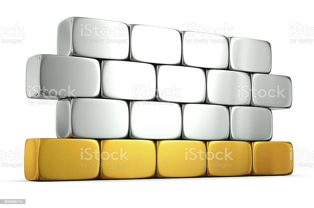 Golden foundation stock photo