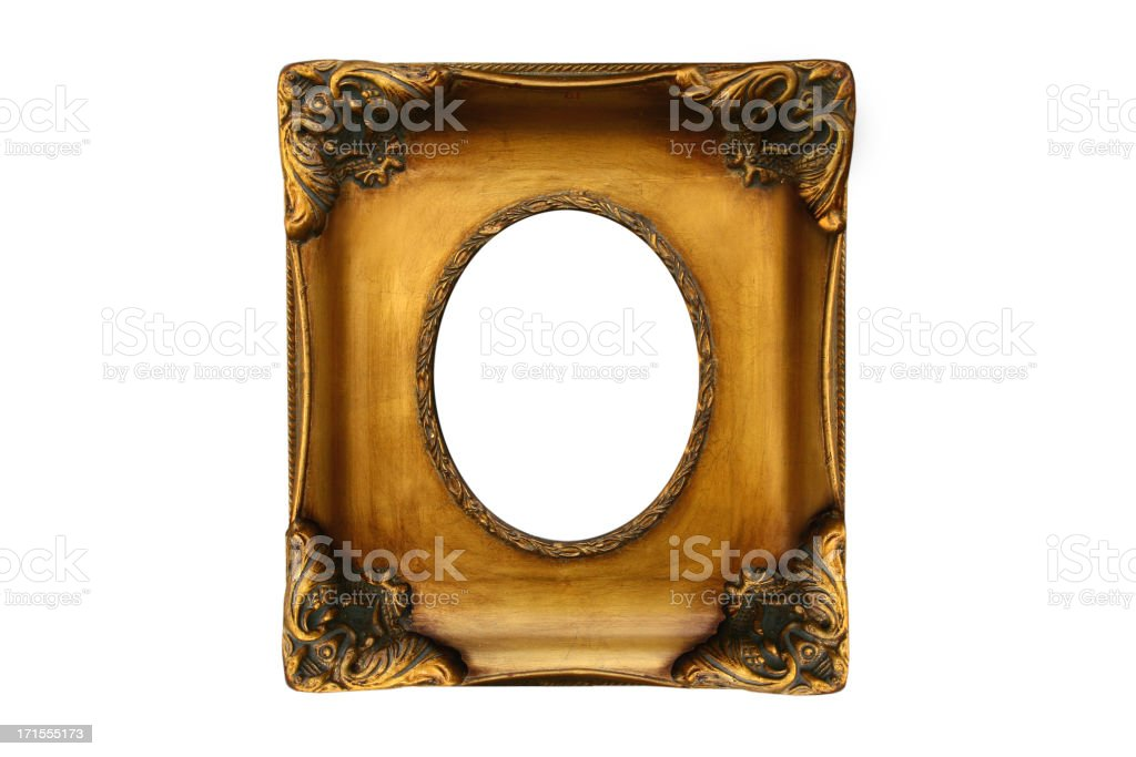 golden frame box royalty-free stock photo