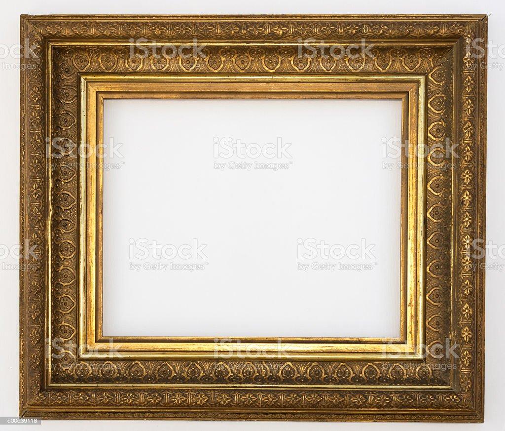 Goldener Rahmen Isoliert Das Picture Frame - Stockfoto | iStock