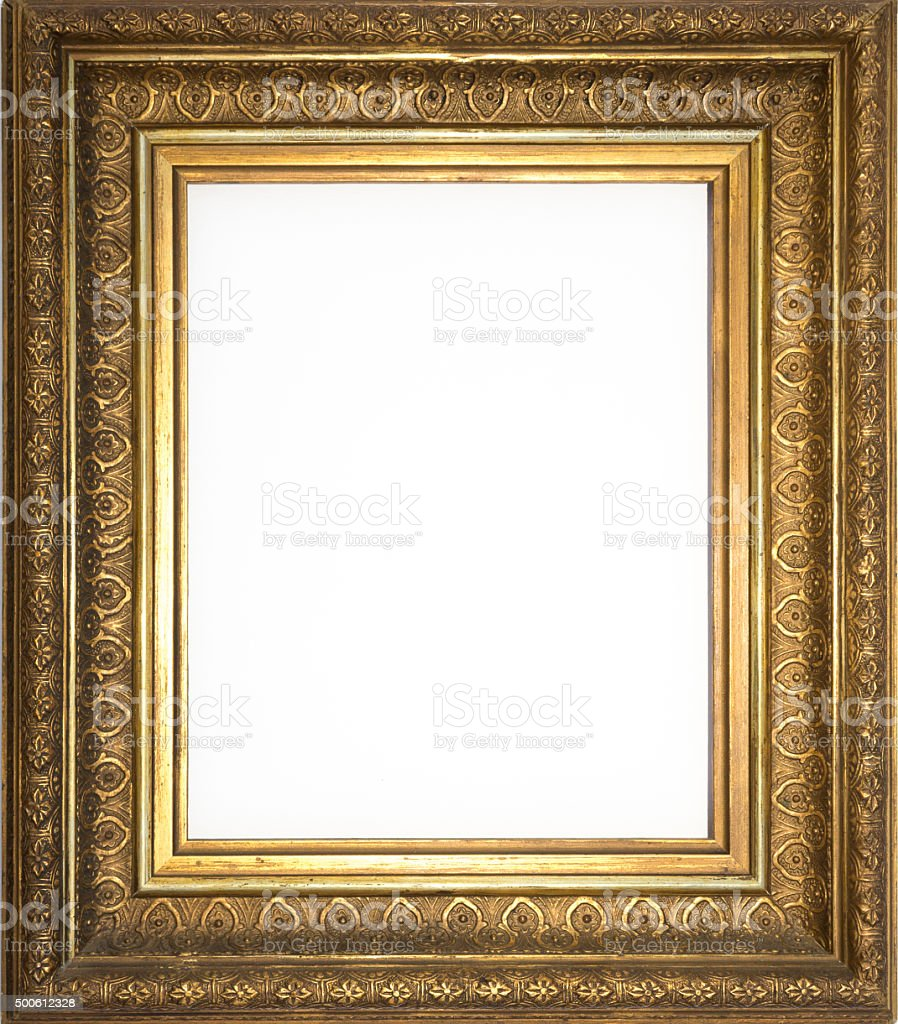 Golden Frame Isolated Decorated Picture Frame Stock Photo & More ...