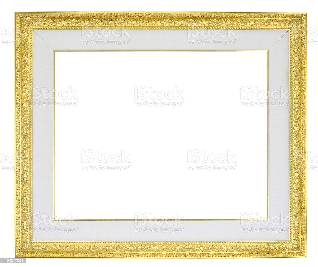 Golden frame. stock photo