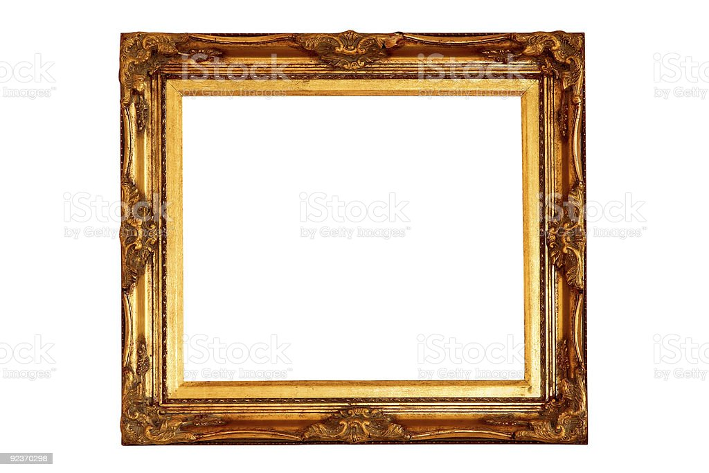 Golden frame royalty-free stock photo