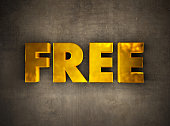 istock Golden Free Text on the Wall 1286880480