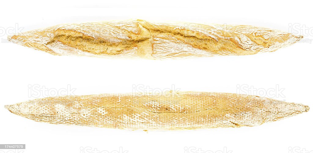 Golden French Crusty  Baguette of whole wheat bread royalty-free stock photo