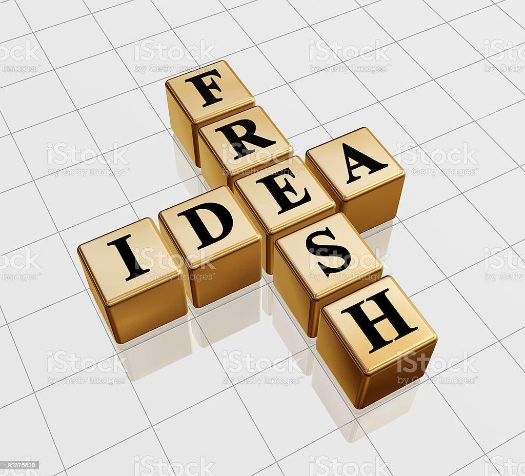 golden fresh idea like crossword royalty-free stock photo
