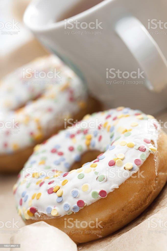 Golden freshly baked doughnut royalty-free stock photo