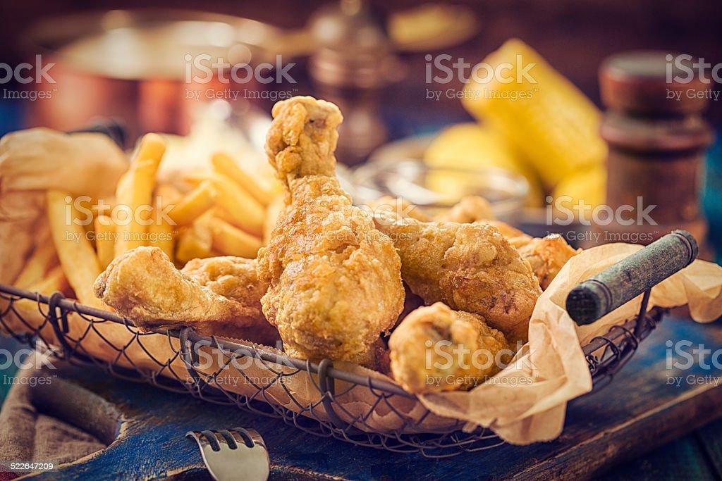 Golden Fried Chicken stock photo