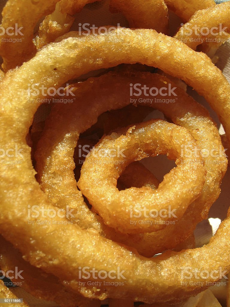 Golden Fried Onion Rings royalty-free stock photo