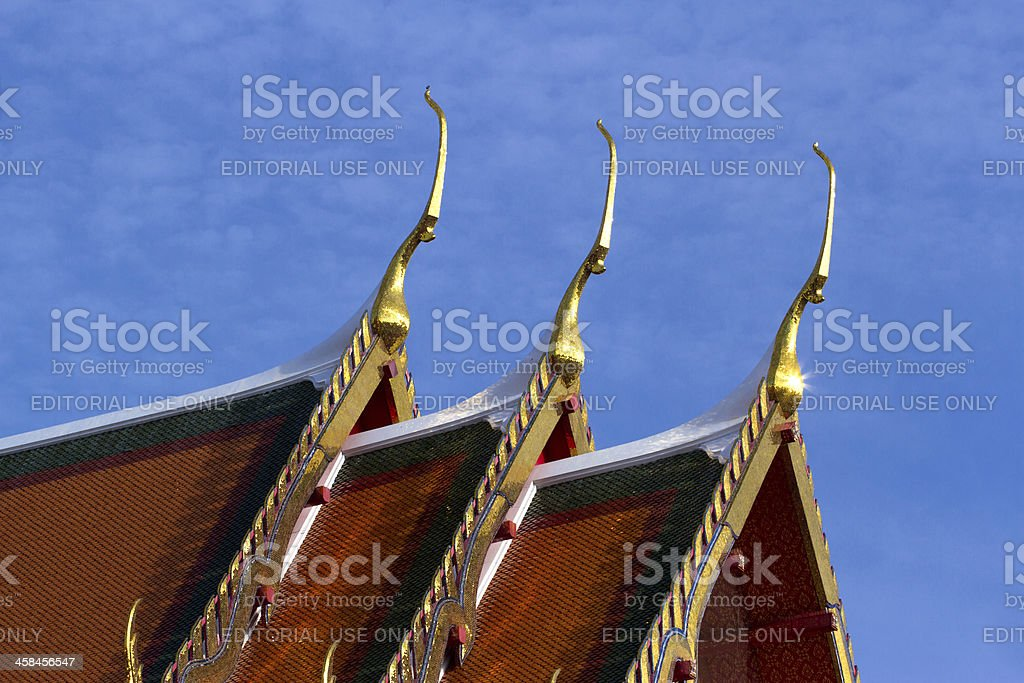 Golden Gable Apex Close up royalty-free stock photo
