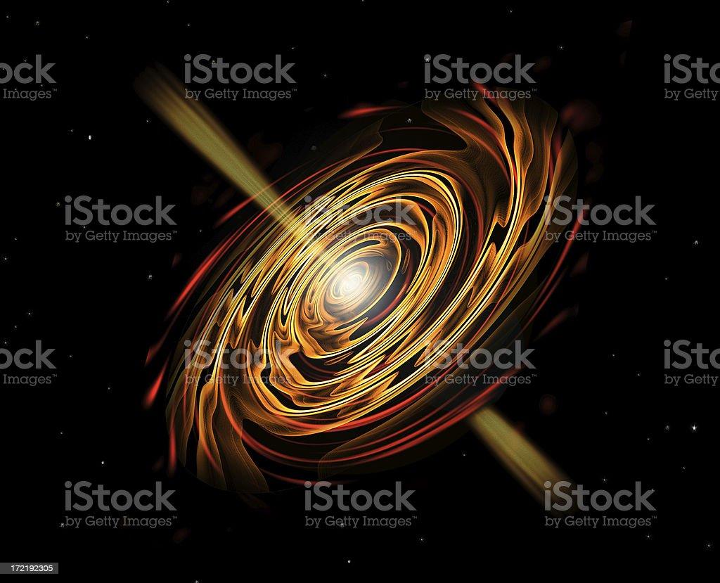 Golden Galaxy royalty-free stock photo