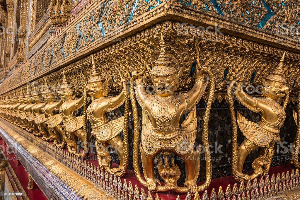 Golden Garuda of Wat Phra Kaew at Bangkok, thailand stock photo