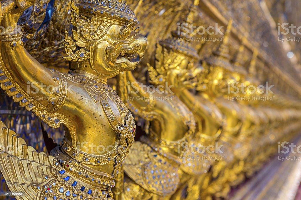 Golden Garuda royalty-free stock photo