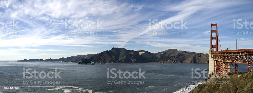 Golden Gate And The Marin Headlands royalty-free stock photo