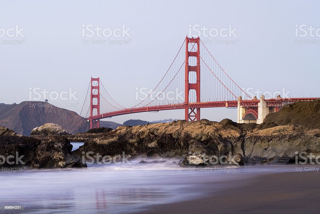 Golden Gate at Baker Beach royalty-free stock photo