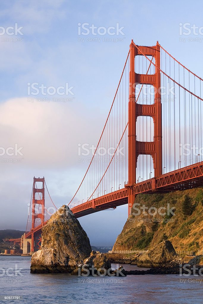 Golden Gate at Sunrise-Vertical royalty-free stock photo