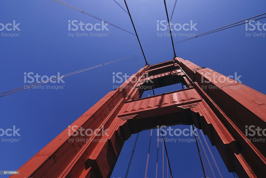 Golden Gate Bridge Abstract 1 royalty-free stock photo