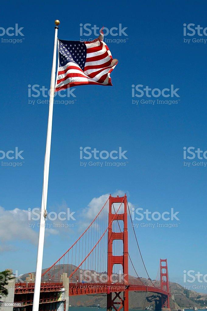 Golden Gate Bridge, an American Symbol royalty-free stock photo