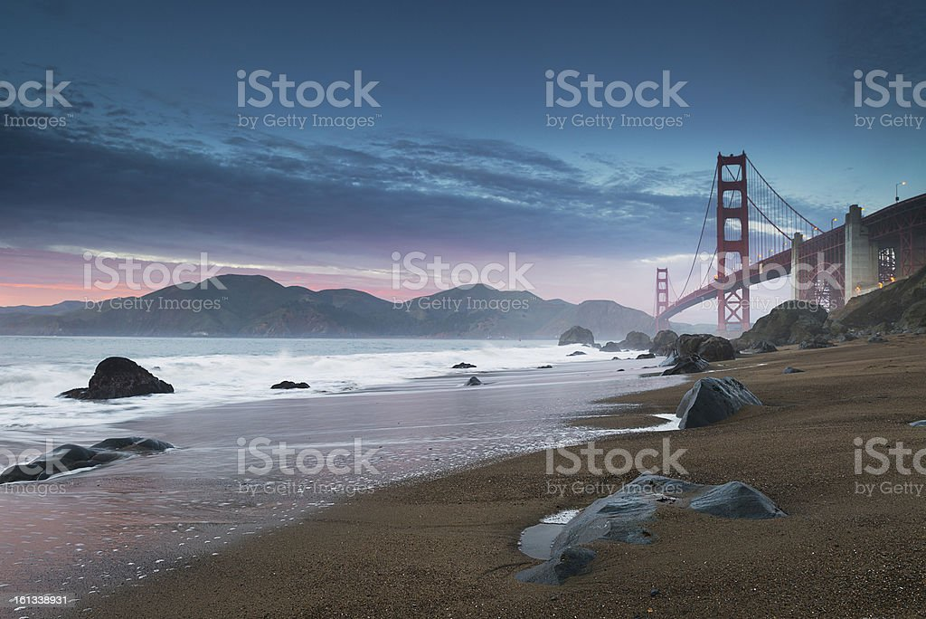 Golden Gate Bridge and Marin Headlands royalty-free stock photo