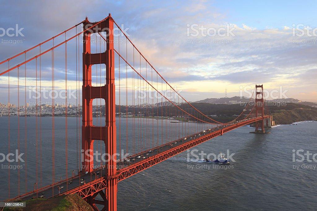 Golden Gate Bridge and San Francisco Bay royalty-free stock photo