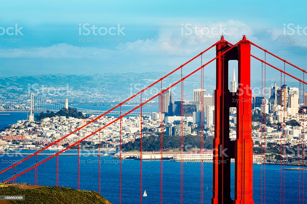 Golden Gate Bridge and San Francisco Cityscape (3XL) stock photo