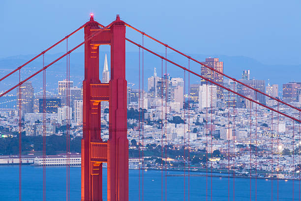 Golden Gate Bridge and San Francisco stock photo