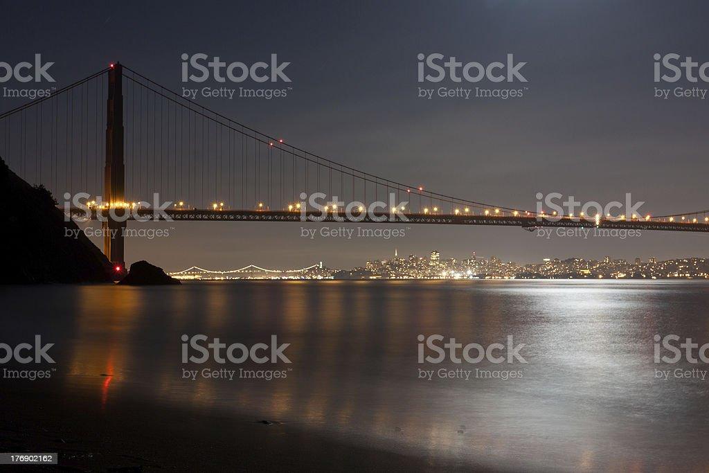 Golden Gate Bridge and San Francisco royalty-free stock photo