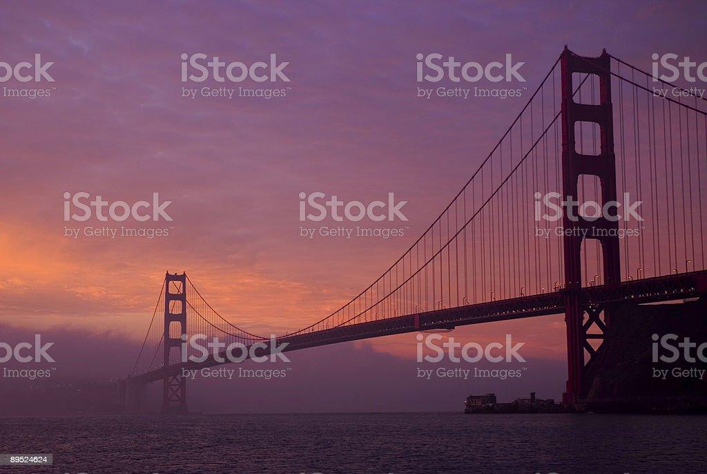 Golden Gate Bridge at Dawn royalty-free stock photo