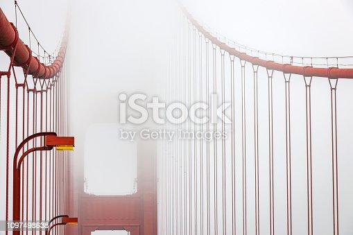Golden Gate Bridge at San Francisco in Fog, USA,Nikon D3x