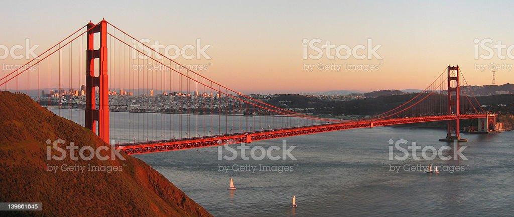 Golden Gate Bridge at Sunset royalty-free stock photo