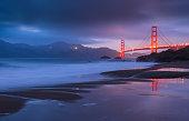 istock Golden Gate Bridge at sunset, San Francisco, California, USA 1126948698