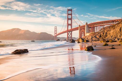 Golden Gate Köprüsü Günbatımı San Francisco Kaliforniya Abd Stok Fotoğraflar & ABD'nin Daha Fazla Resimleri